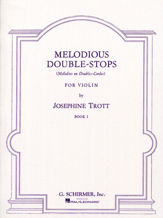 Trott Josephine: Trott Melodious Double-Stops Book 1 Solo Violin (Ed1594)