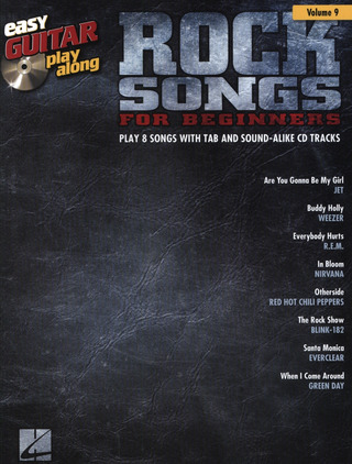 Easy Guitar Play-Along Volume 9: Rock Songs For Beginners