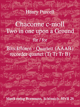 Henry Purcell: Chaconne c-moll – Two in one upon a Ground
