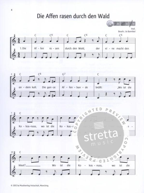 Lieblingslieder - Noten für 1-2 Sopranblockflöten Jede Menge Flötentöne +CD