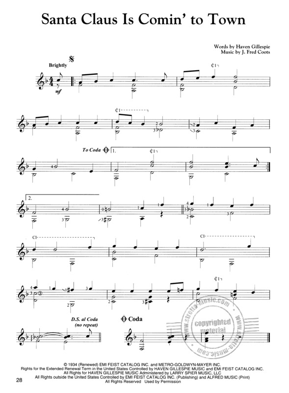 Christmas Songs For Easy Classical Guitar Buy Now In Stretta Sheet Music Shop