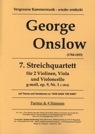 George Onslow: Quartett 7 G-Moll Op 9/1 God Save The King