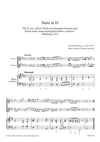 Dietrich Becker: Suite in D