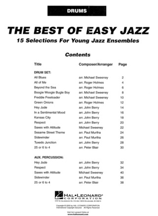 Mark Taylor: The Best Of Easy Jazz – Schlagzeug