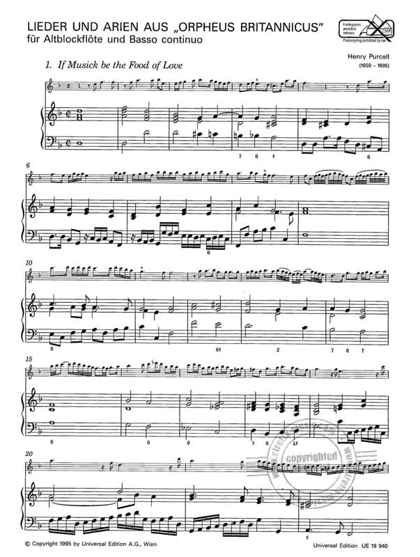 "Henry Purcell: ""If Musick be the Food of Love"" (1)"