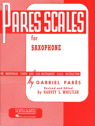 Gabriël Parès: Pares Scales for Saxophone