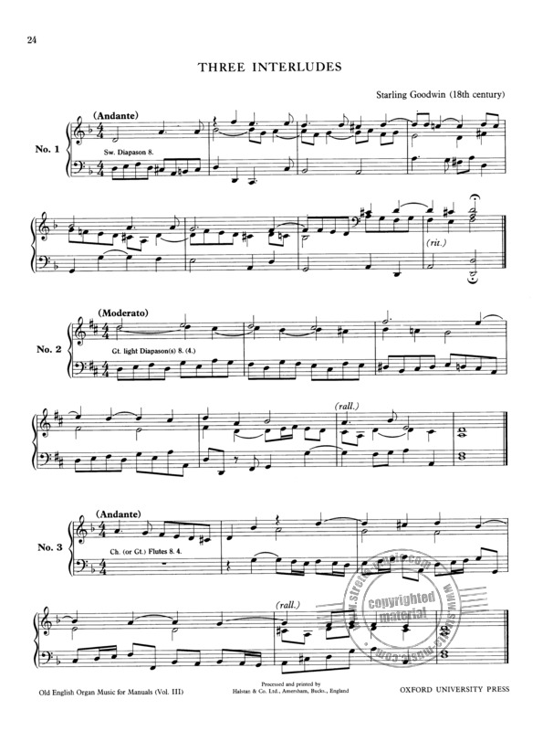 Old English Organ Music for Manuals 3 (8)