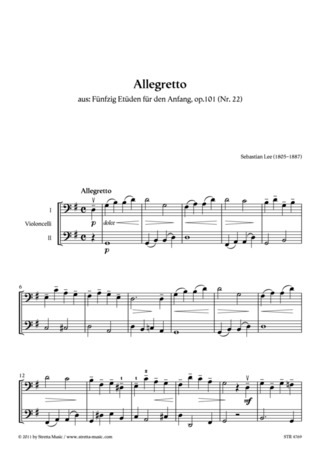 Sebastian Lee: Allegretto