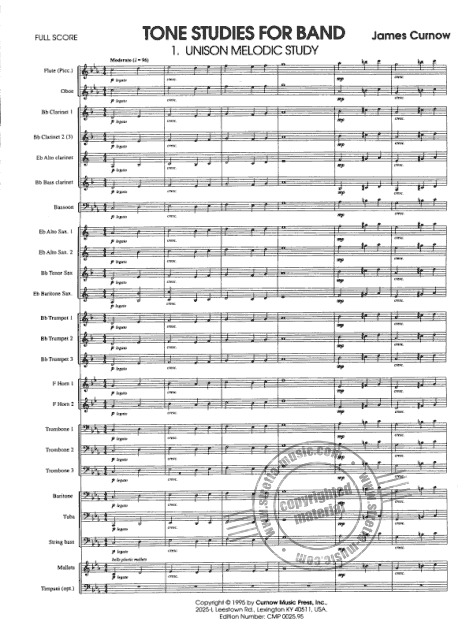 James Curnow: Tonstudies for Band (1)