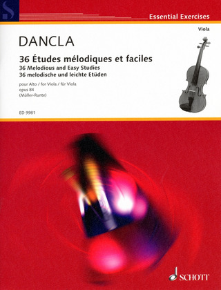 Charles Dancla: 36 melodious and easy studies