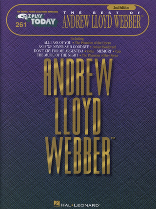 Andrew Lloyd Webber: E-Z Play Today 261: The Best Of  Andrew Lloyd Webber