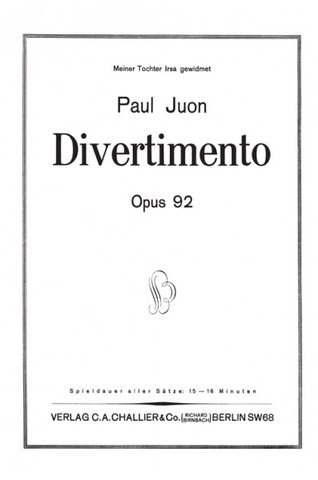 Paul Juon: Divertimento op. 92