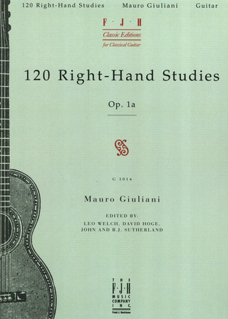 Mauro Giuliani: 120 right-hand studies op. 1a by Mauro Giuliani for solo Guitar