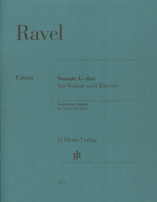 Maurice Ravel: Violin Sonata G major