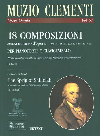 Muzio Clementi: 18 Compositions without opus number Op-sn 1-18 (WO 2, 3, 5, 8, 10, 11, 13-23) for Harpsichord (Piano)