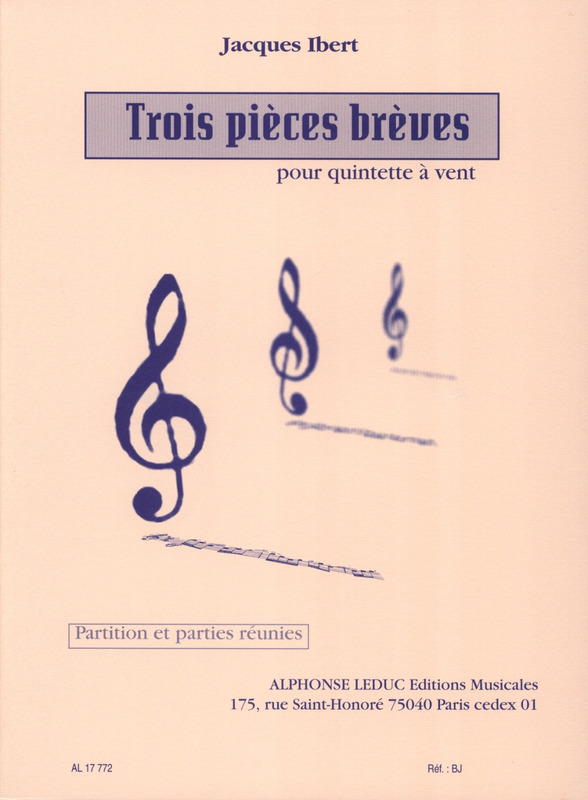 Jacques Ibert: 3 Pieces Breves