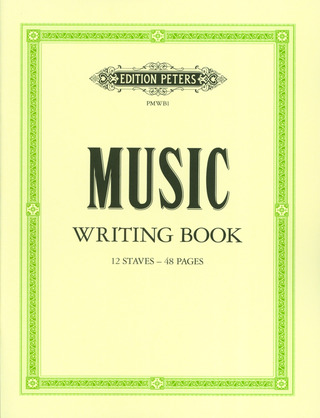 Peters Music Writing Book – mittel
