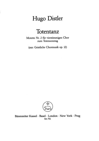 Hugo Distler: Totentanz op. 12/2