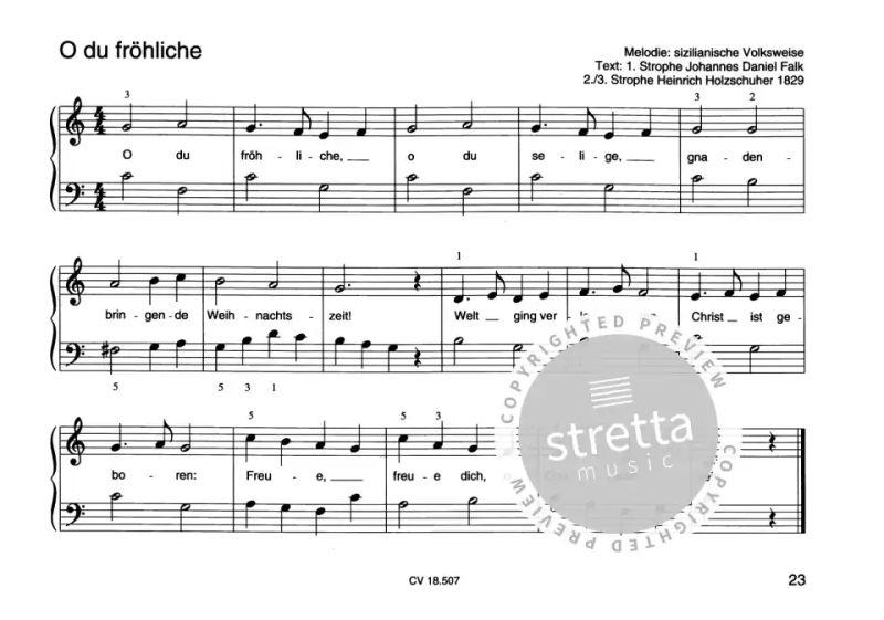 Populäre Weihnachtslieder.Weihnachtslieder Für Klavieranfänger 1 Im Stretta Noten Shop Kaufen