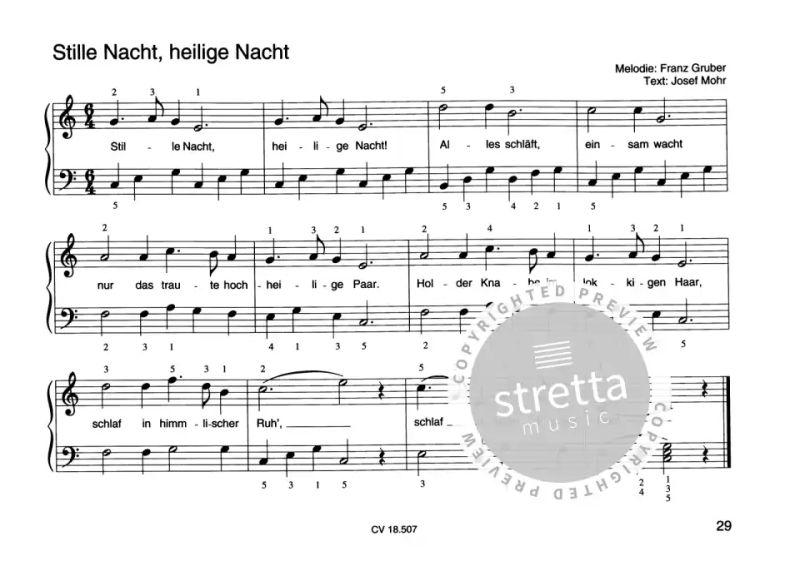 Weihnachtslieder Klaviernoten Kostenlos.Weihnachtslieder Für Klavieranfänger 1 Im Stretta Noten Shop Kaufen