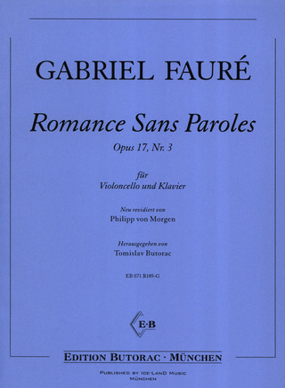 Gabriel Fauré: Romance Sans Paroles Op 17/3