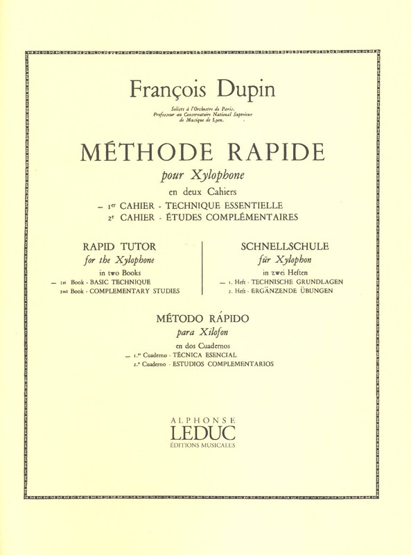 François Dupin: Rapid Tutor for the Xylophone 1