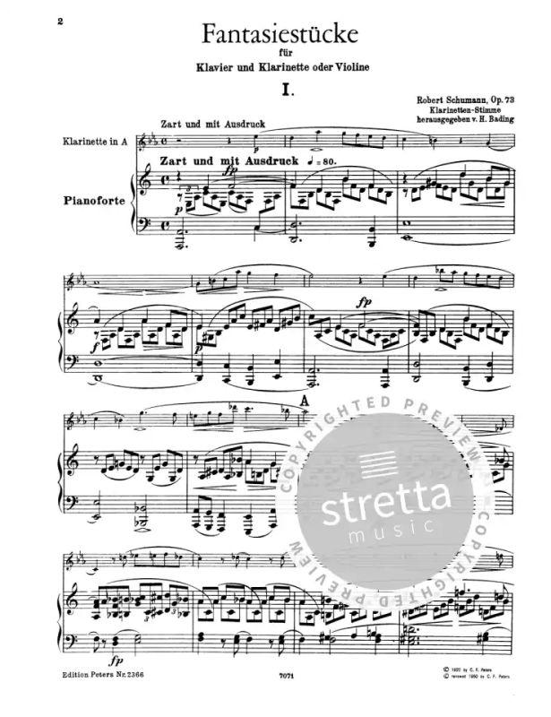 peters 2366a clarinet SCHUMANN fantaisiestucke op 73