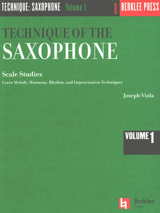 Viola Joseph: Technique Of The Saxophon 1 Scale Studies