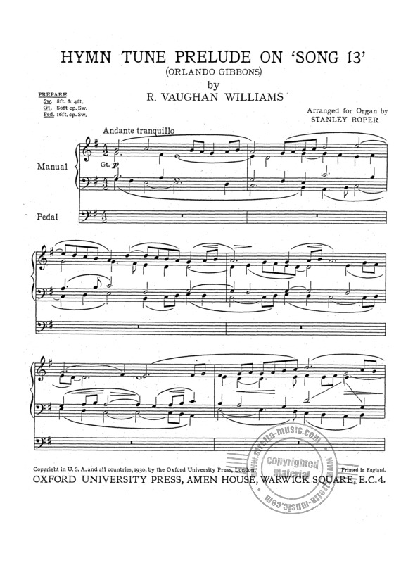 Ralph Vaughan Williams: Prelude On 'Song 13' (1)