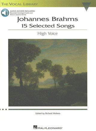 Johannes Brahms: 15 Selected Songs – high voice