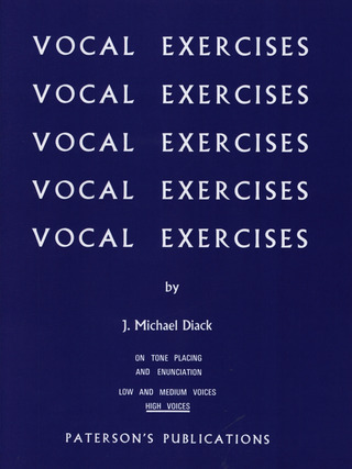 Diack: Diack, M Vocal Exercises Tone Placing High Voice