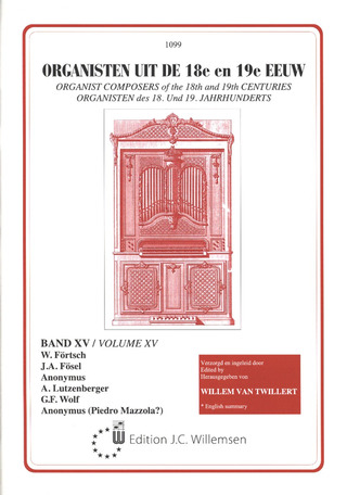 Organist Composers of the 18th and 19th Centuries 15