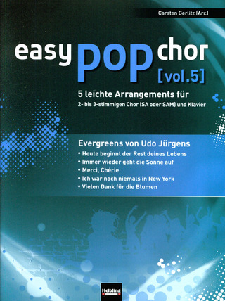 easy pop chor 5: Evergreens von Udo Jürgens