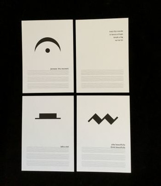 Set of 4 postcards | Music Signs