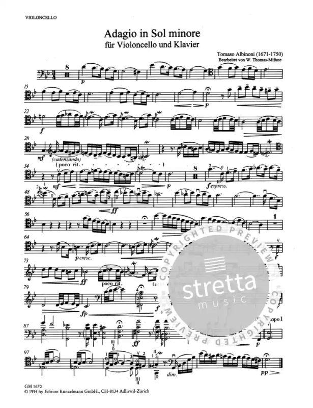 Clavier Et Synthétiseur Livres Adagio In Sol Minore