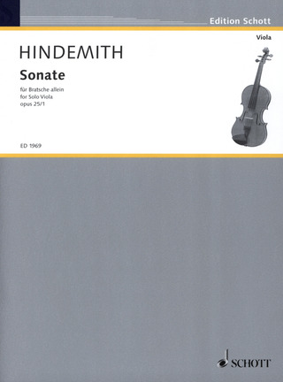 Paul Hindemith: Sonate op. 25/1