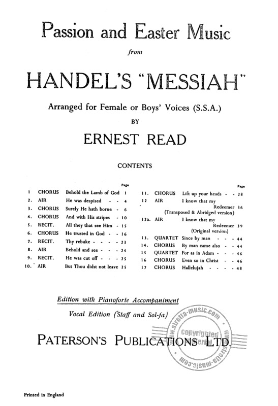 "George Frideric Handel: Passion Music and Easter Music from Händel's ""Messiah"" (1)"
