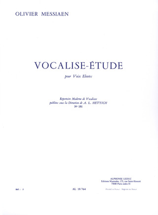 Olivier Messiaen: Vocalise Etude Nr. 151