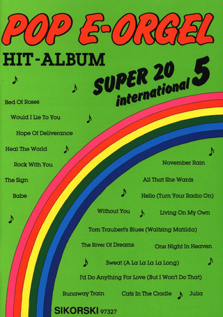 Pop E-Orgel Hit-Album Super 20: International 5