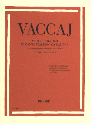 Nicola Vaccai: Practical Method of Italian Singing