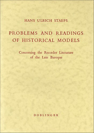 Hans Ulrich Staeps: Problems and Readings of Historical Models