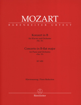 Wolfgang Amadeus Mozart: Concerto No. 15 in B-flat major K. 450