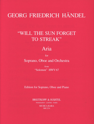 George Frideric Handel: Arie 'Will the sun' (Salomon)