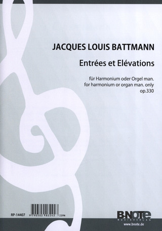 Battmann Jacques Louis: 25 Entrees Et 25 Elevations Op 330