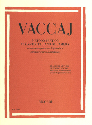 Nicola Vaccaj: Practical method of Italian singing