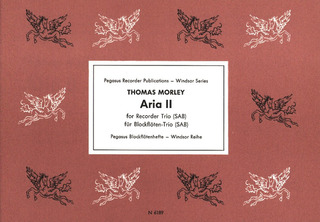"Thomas Morley: Aria II from the first part of  ""A Plaine & Easy Introduction to Practicall Musicke"" (1597)"
