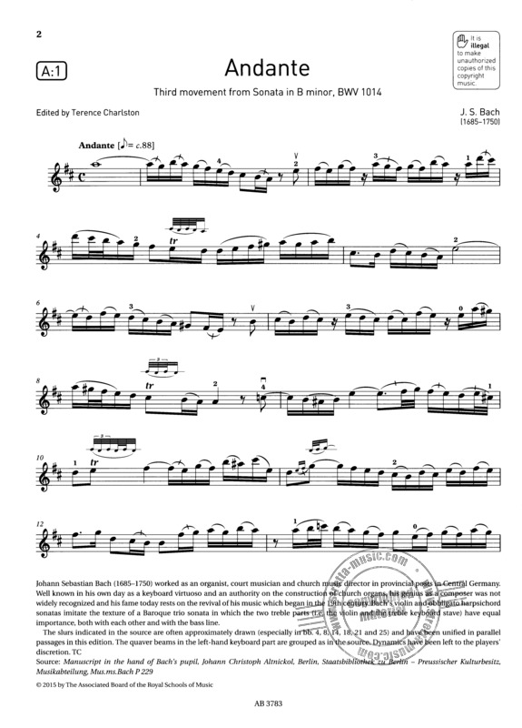 ABRSM Exam Pieces 2016-2019 Grade 5 Violin & Piano Book/CD