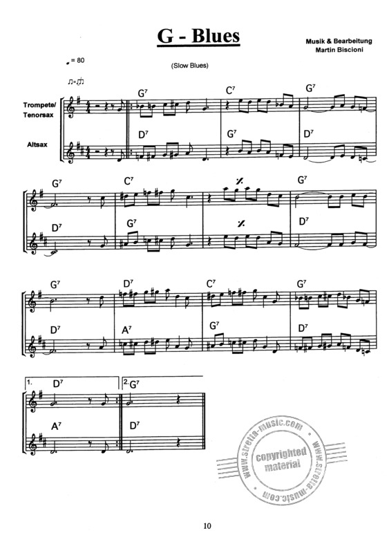 Biscioni, Martin: Blues for Saxophone or Trumpet (3)