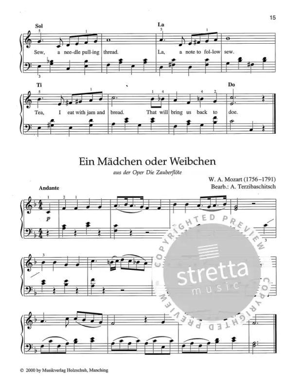 /Über 100 bekannte Themen und Melodien bearbeitet f/ür Klavier Wunschmelodien Band 1