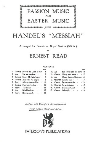 "George Frideric Handel: Passion Music and Easter Music from Händel's ""Messiah"""